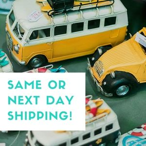 Same or Next Day Shipping on all items!